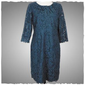 NWT Talbots Petites Navy Mother of the Bride Dress